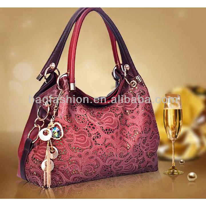 Ladies Gradient Color Synthetic Leather Retro Inclined Big Bag Women Handbag Bag Shoulder