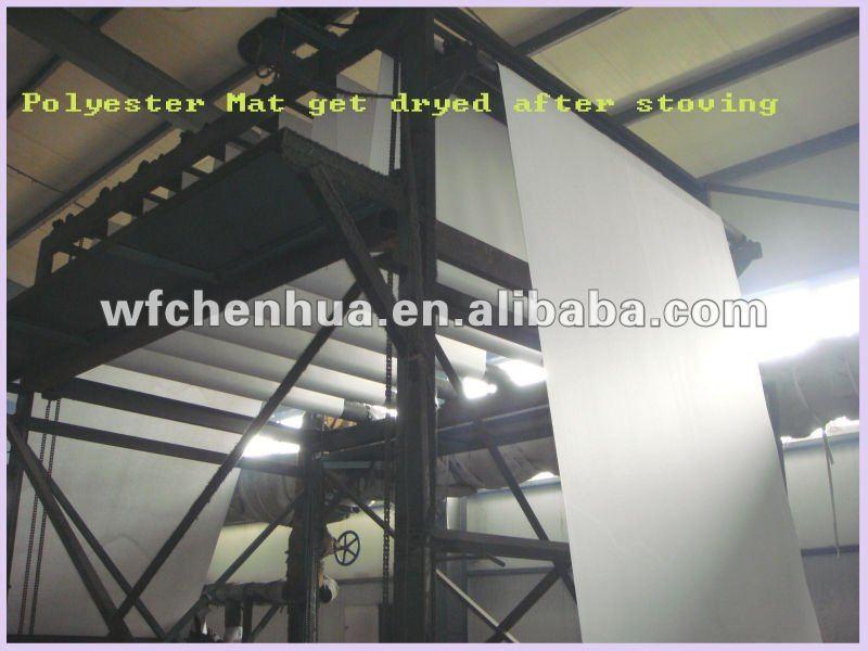 Polyester mat reinforcement rolls for bitumen membrane