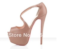 Туфли на высоком каблуке The new fashion high-heeled shoes red shoes sexy female sandals wedding shoe dinner shoes