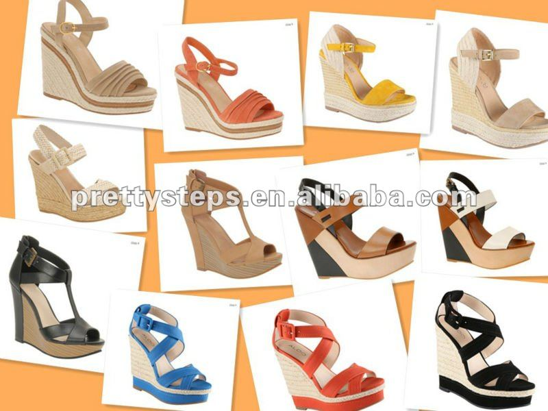 Pretty Steps china wholesale 12cm peep-toe double platform latest design ladies shoe