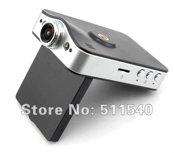 HD 720P 2.4 inch TFT LCD Screen Dual CAR Camera with 2 LED IR Night Vision G-sensor SOS 2 Channel Car Dash DVR Free shipping X5