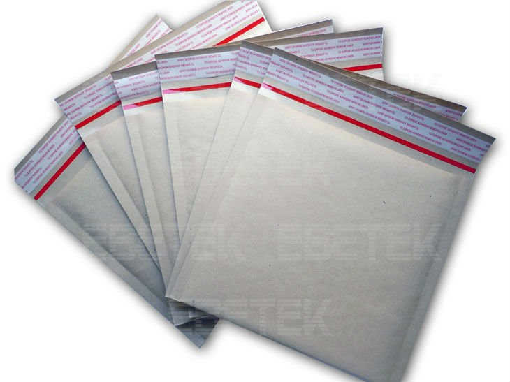Kraft Bubble Mailer, Self-styled Seal, Paper Envelopes