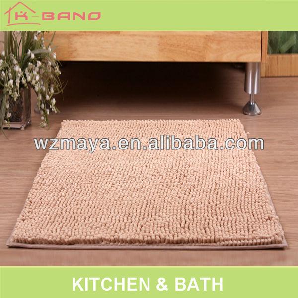 Cheap and fine 100% polyester bath mat