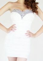 "Женское платье LASION""Hot European and American nightclub dress Bra diamond fold #4047"