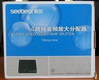 Оборудование для Радио и Телевещания B58# SB-104VA 1 in 4 Audio & Video Amplifier Splitter / Distributor