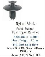 Крепежная деталь в салон авто 100PCS Front Bumper Push-Type Retainer For Acura 3.5RL Sedan & Honda 1996-On For Acura:91503-SZ3-003 Car Clips