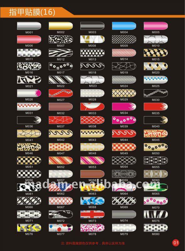 Low price/ 16pcs Nail Art Sticker Foils Patch Manicure Decoration (MD-JST-001A)