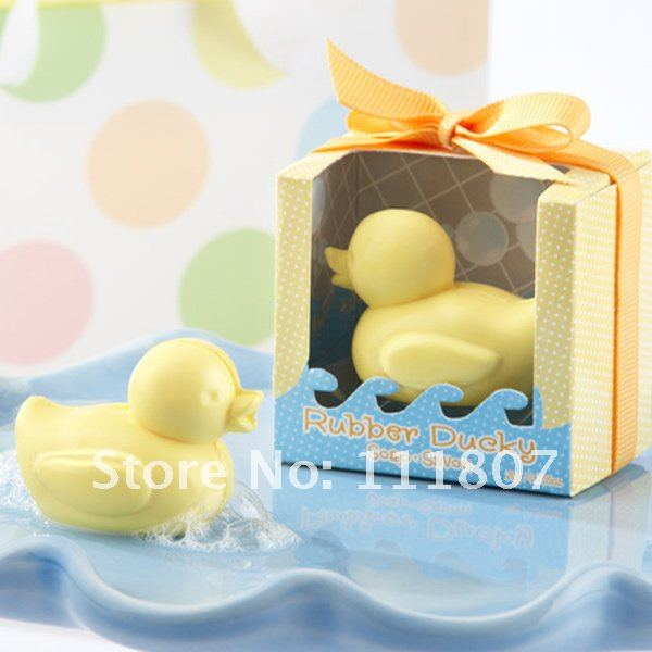 Free shipping 100sets/lot  duck soap as baby birthday favors wedding gifts