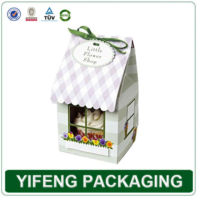 China Factory High Quality PVC Window Paper Cupcake Box