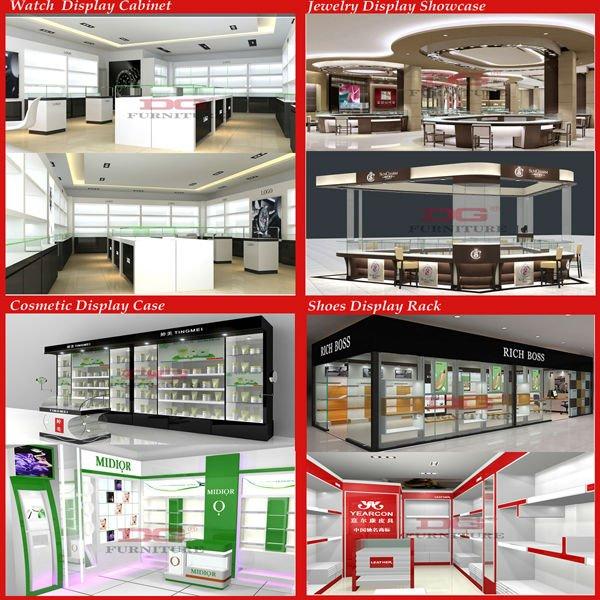 Fashionable cosmetics shop decoration interior design, View ...