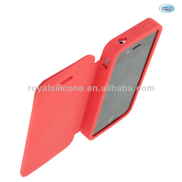 New Arrival 2014 Silicone Flip Cover Case For iPhone 4 4s
