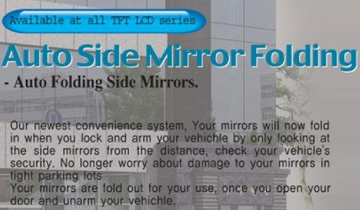 Auto Side Mirror Folding