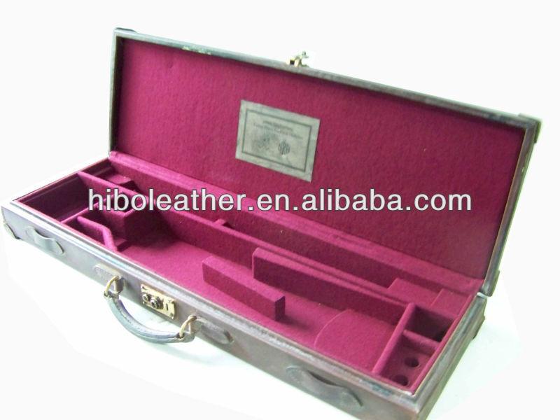 Vintage genuine leather gun case
