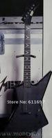 ++ гитара фабрика + пользовательские Джеймс Хэтфилд в черный esp исследователь электрогитара с алмазной плитой