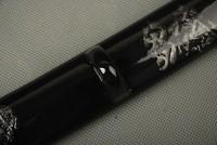 Товары для ручных поделок Samurai Sword Japanese Wakizashi Black Silver Wooden Saya Sheath Scabbard SYZ6