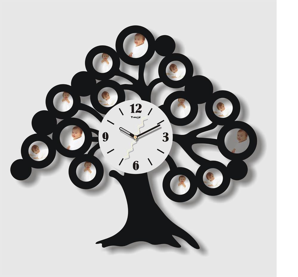 stamboom fotolijst wandklok voor home decor-muur klokken-product ...