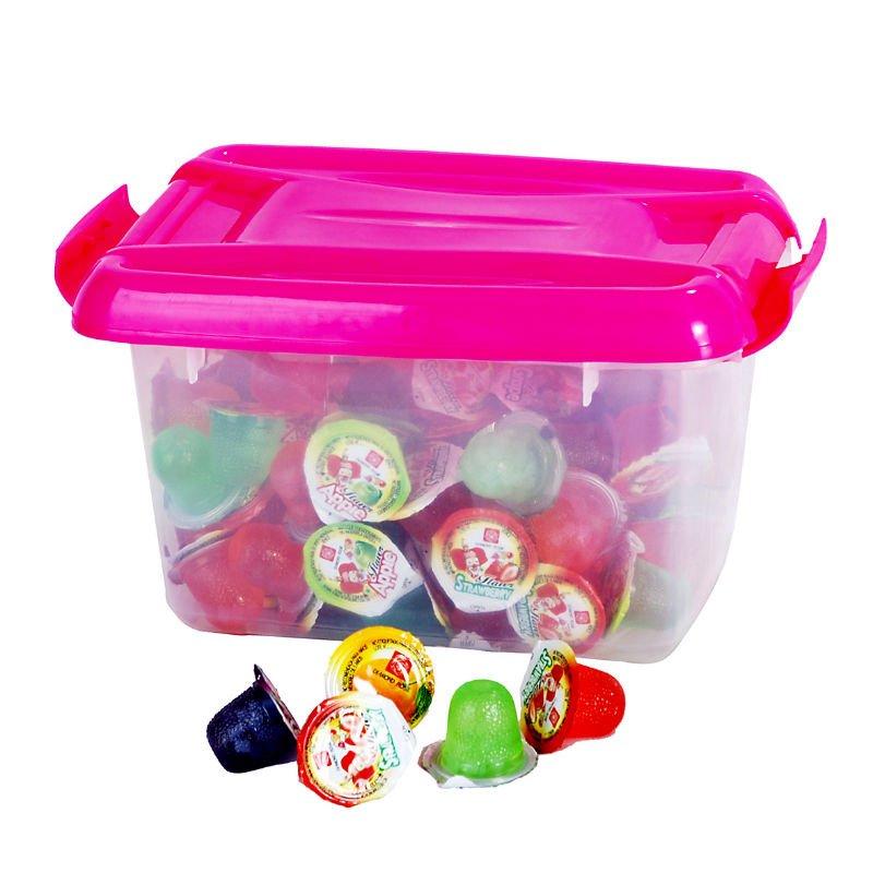 assorted gelatina mini fruit jelly