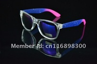 1pc Europe and the United States wind vintage color the inkjet blue chip sunglasses wayfarar glasses