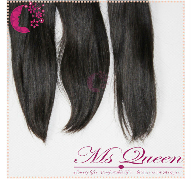 4A  brazilian virgin hair weft straight (112)