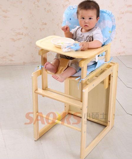 De madera silla de bebe silla de beb port til cena de for Silla de bebe de madera