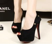 две новые модные замшевые туфли носить атласный бант на высоких каблуках