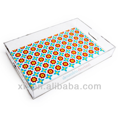 factory made acrylic food tray, clear acrylic fruit tray