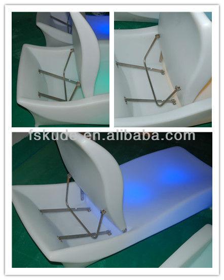 Illuminous LED Plastic Pool Lounge swimming pool outdoor chairs