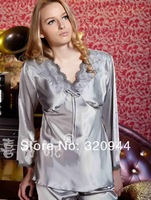 Женский комплект для сна Women sleepwear long-sleeve spring and autumn faux silk autumn silk autumn lounge set size M L XL #1212
