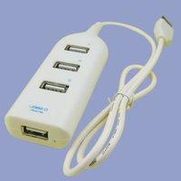 Электрическая вилка USB 2.0 4 Port Hub For PC Mac 480mbps White