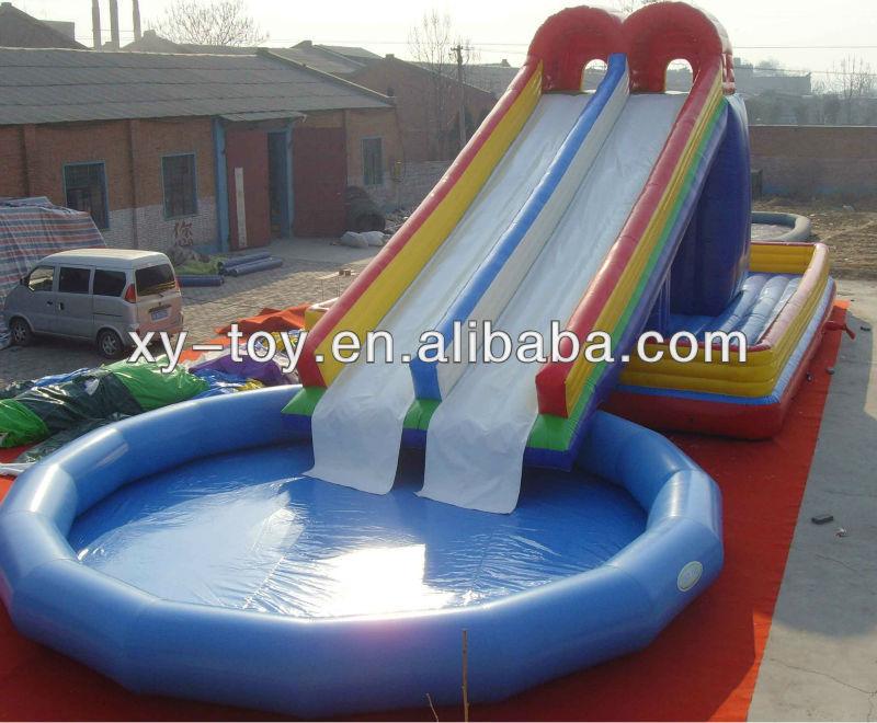 Super Splash Slide Avec Piscine Nylon Toboggan Gonflable