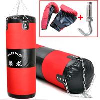 100 см незаполненной приостановлено Сандбаг + перчатки бокс пробивая мешок обучение