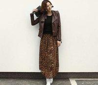 женщина leopard юбка euramerican стиль высокое качество мягкую шифона плиссированной леди юбки низкая цена на кредит