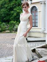 2012 hot sale white off-shoulder appliqued simple bridesmaid dresses