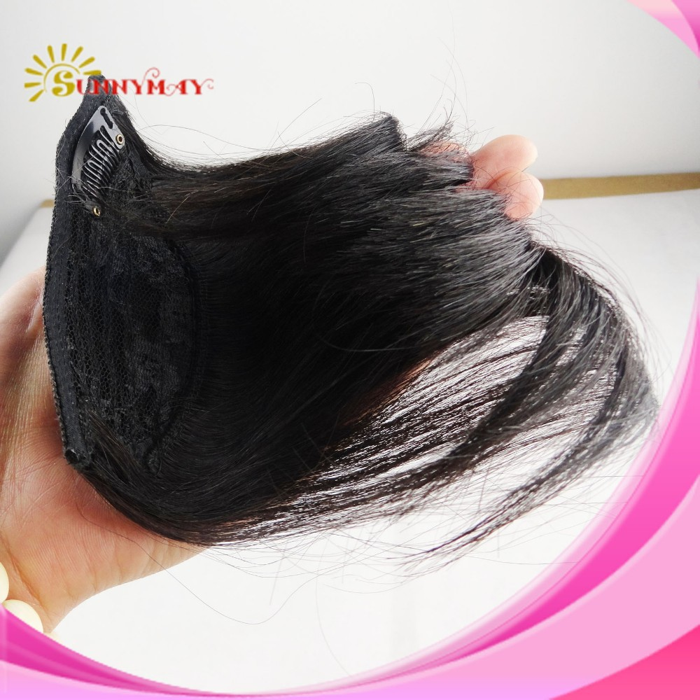 Front bangs hair bang extension clip in hair bangs Brazilian human hair bang hair fringe 1pc