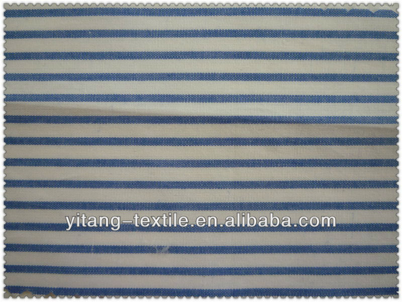 Fabric cotton blue and white stripe
