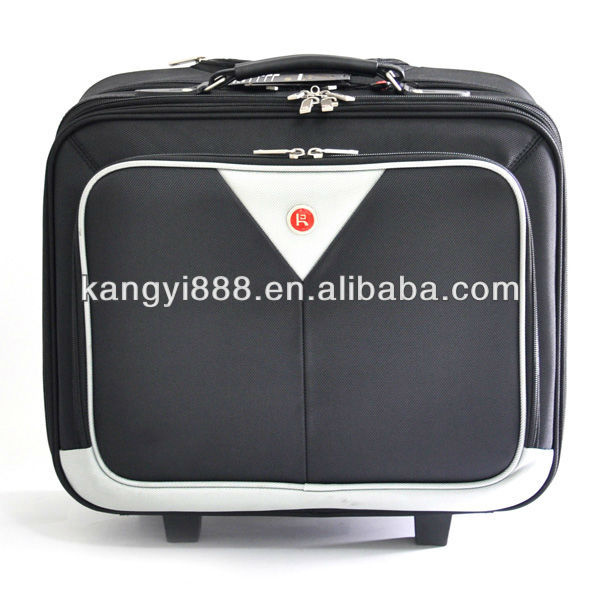 cool designed black/white fashion trolley laptop bag