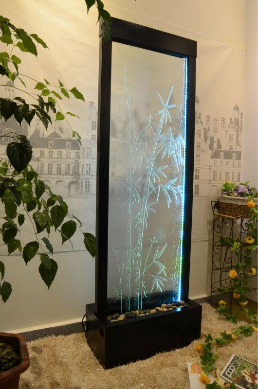 Pavimento in vetro divisorio cascata grafica con illuminazione a ...