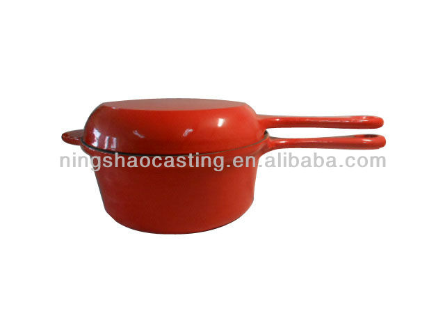 cast iron enamel cookware set