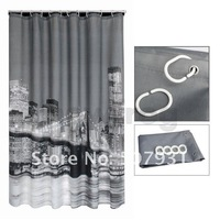 Занавеска для душа 10 off per $100 order+ $10 off per $100 order High Quality City Night View Bathing Waterproof Bathroom Fabric Shower Curtain