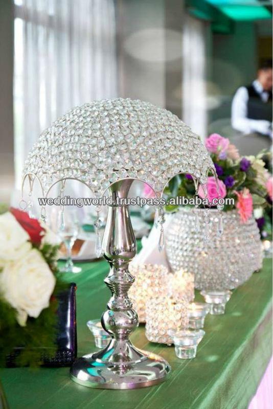 La boda de mesa candelabros con globo de cristal/negro candelabro ...