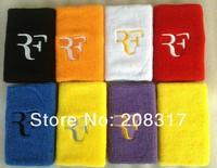 Roger Federer RF/ nadal sport wristband embroidery sweatband tennis racket / basketball / Speedminton
