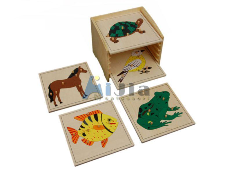 Premio di materiali montessori, puzzle di legno