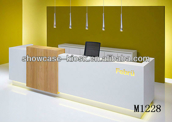 White Half Round Reception Desk Design,Front Desk Reception ...