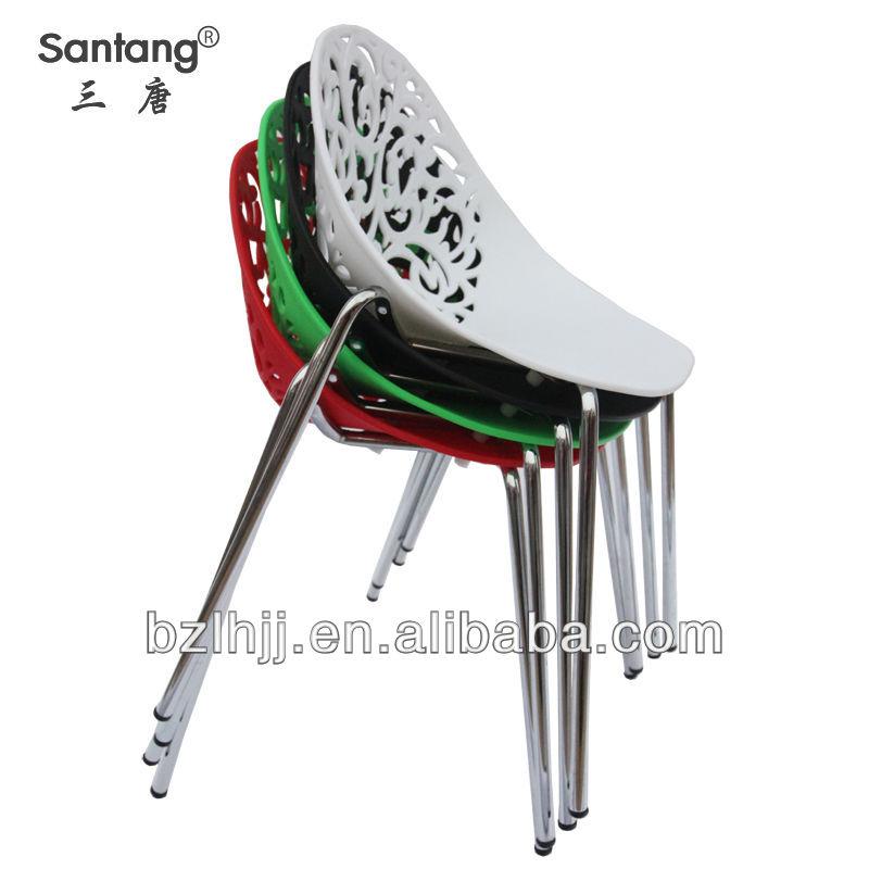 Plástico silla de comedor de diseño moderno/restaurante muebles ...