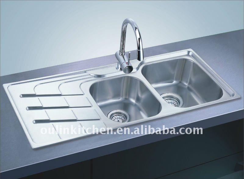 drainboard kitchen sink(OL-360), View built-in drainboard kitchen sink ...