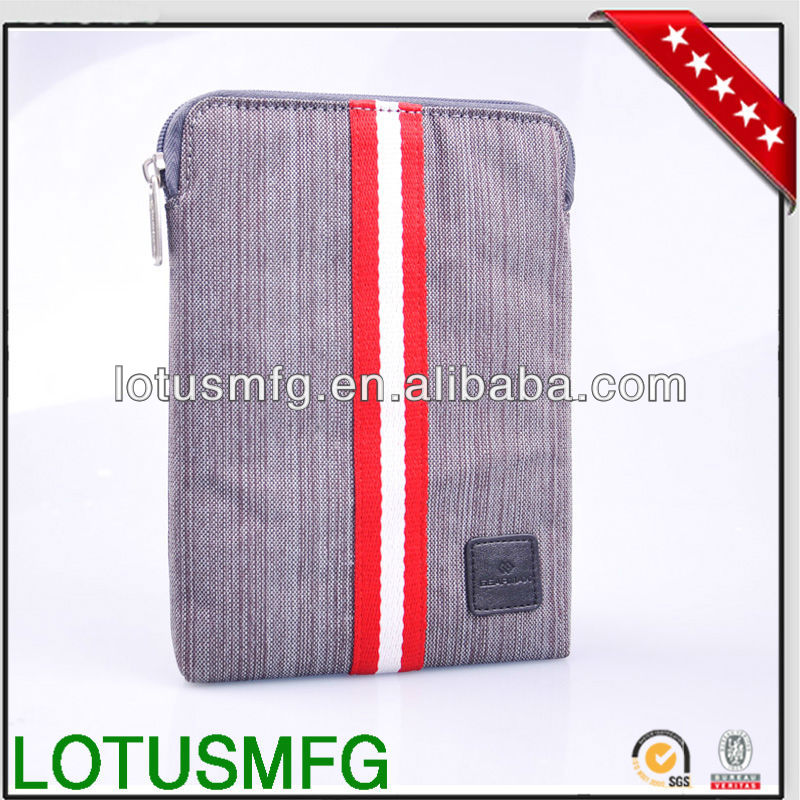 Slim canvas tablet /laptop sleeve for ipad mini retina