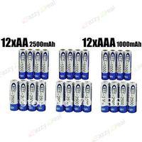 Аккумулятор BIG SALE-BTY 12+12 piles 12 1.2v AA 2500mAh 12 AAA 1000mAh Rechargeable Recharge Ni-MH NiMH Battery