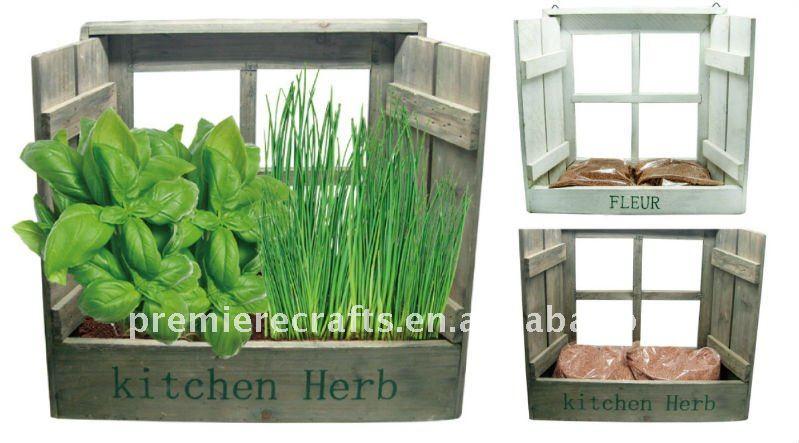Houten keuken kruidenpotten diy mini tuin planter verticale tuin ...
