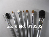 Кисти для макияжа High quality-Professional Cosmetic 7Pcs Makeup Brushes Make Up Brush Tools Set with Bag