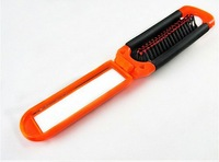 Merry Christmas! DIY Folding Hairdress Styling Hair Straightener V Comb with mirror .JHB-061